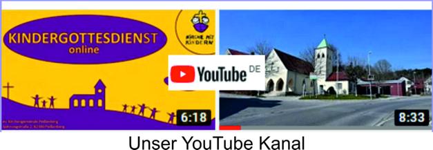 zum YouTube Kanal ev. Kirche Peißenberg