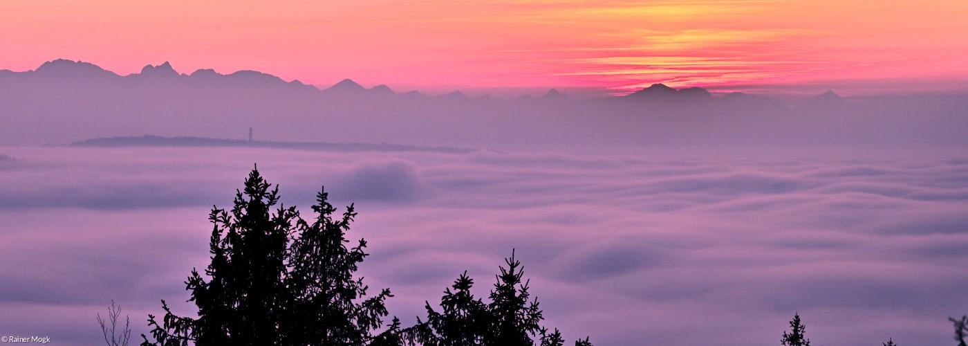 Blick vom Hohenpeißenberg nach Süden